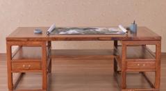 苏梨上品东阳红木书桌书柜刺猬紫檀实木花梨木红木家具定制厂家直销